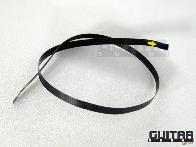 11 inch FLEX RIBBON CABLE FOR GIBSON ROBOT - TRONICAL for: Les Paul, SG, Flying V, Jr. Junior, Explorer & Self-Tuning Fender Stratocaster Proto-types. Connects Tronical Tail Stop Piece or Bridge to Master Control CPU (with MCK) [GUITAR SUSHI] Maintaining a wide-stance since 2006 | www.guitarsushi.com