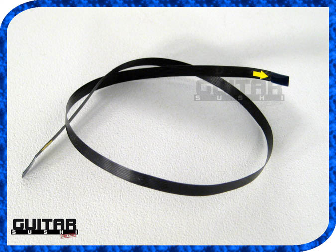 more photos below: 11 inch FLEX RIBBON CABLE FOR GIBSON ROBOT - TRONICAL for: Les Paul, SG, Flying V, Jr. Junior, Explorer & Self-Tuning Fender Stratocaster Proto-types. Connects Tronical Tail Stop Piece or Bridge to Master Control CPU (with MCK) [GUITAR SUSHI] Maintaining a wide-stance since 2006 | www.guitarsushi.com