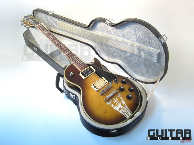 Vintage 1974 Ibanez Custom Agent Model 2405 Classic Pre-Serial Collectible Japanese Les Paul Style Lawsuit Era Electric Guitar with Urn Inlay Headstock, Creme Super 70 & Black DiMarzio pickups, and includes Hardshell Case [GUITAR SUSHI] Maintaining a wide-stance since 2006   www.guitarsushi.com